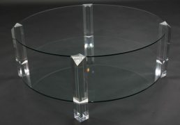 BOR-Design The Hague salontafel rond glas