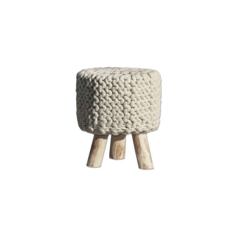 By-Boo stool wool nature