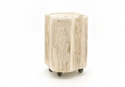 By-Boo stool wood on wheels