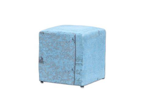 By boo pouf patchwork turquoise meertens meubelen - Eigentijdse pouf ...
