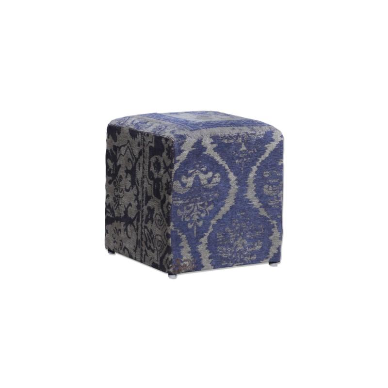 By boo pouf patchwork donkerblauw meertens meubelen - Eigentijdse pouf ...