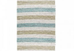 By-Boo vloerkleed Jute natural green & blue