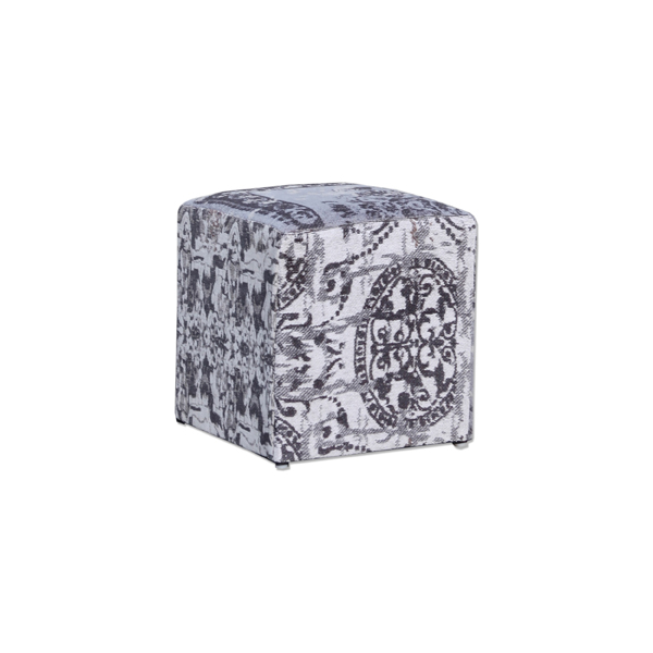 By boo pouf patchwork grijs meertens meubelen - Eigentijdse pouf ...