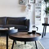 By-Boo coffee table Tripod high - hippe, salontafel met houten blad en stoere, metalen rand