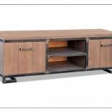 Koopmans 1105 tv-meubel - stoer, massief eiken tv-meubel in industriële stijl