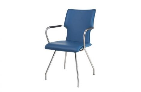 HE Design Nick eetkamerstoel met armleuning zonder wieltjes
