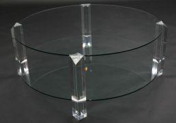 BOR-Design The Hague salontafel rond glas