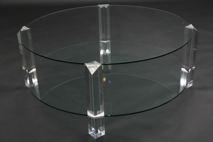 Salontafel Rond Met Glas.Bor Design The Hague Salontafel Rond