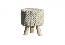 By-Boo stool wool nature krukje