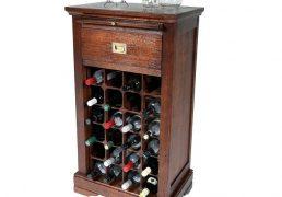 Van Rees Lexington wijnkast - klassieke wijnkast van massief eiken