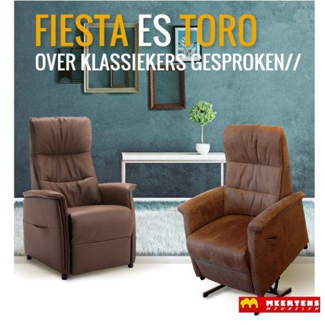 De Toekomst Fiesta Toro sta-op stoel aanbieding