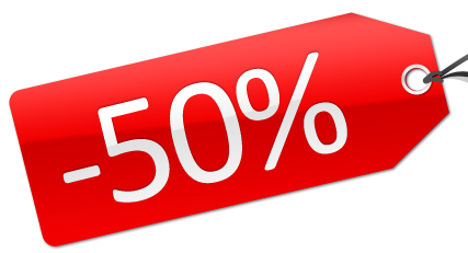 50 procent korting op banken