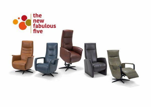 New Fabulous Five relaxfauteuil in leer vanaf € 1395,-