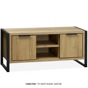 Carlton tv-kast klein plank hout